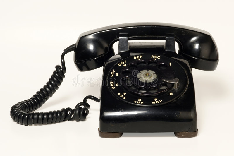 roterande telefon arkivfoton