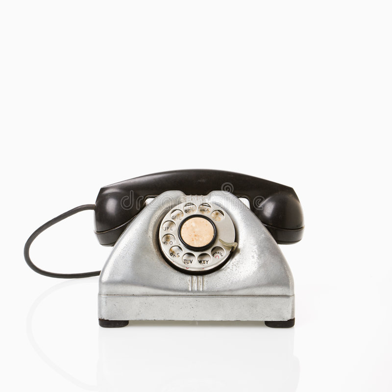 roterande telefon royaltyfria foton