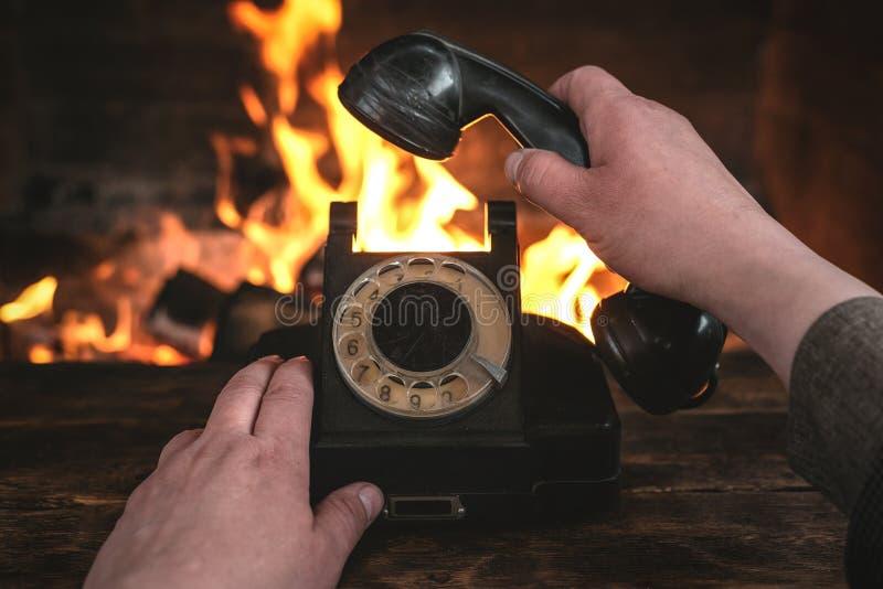 Roterande telefon fotografering för bildbyråer
