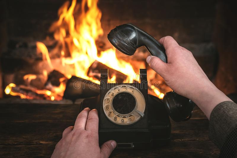 Roterande telefon royaltyfri bild