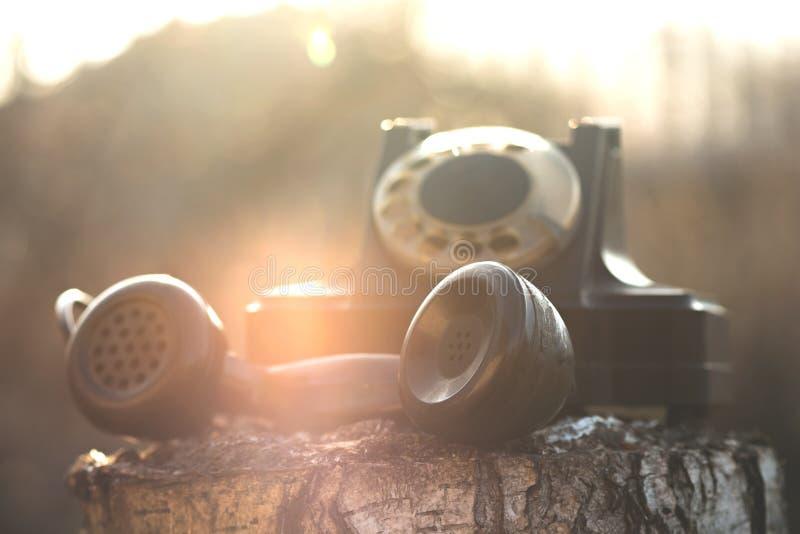 Roterande telefon arkivbild