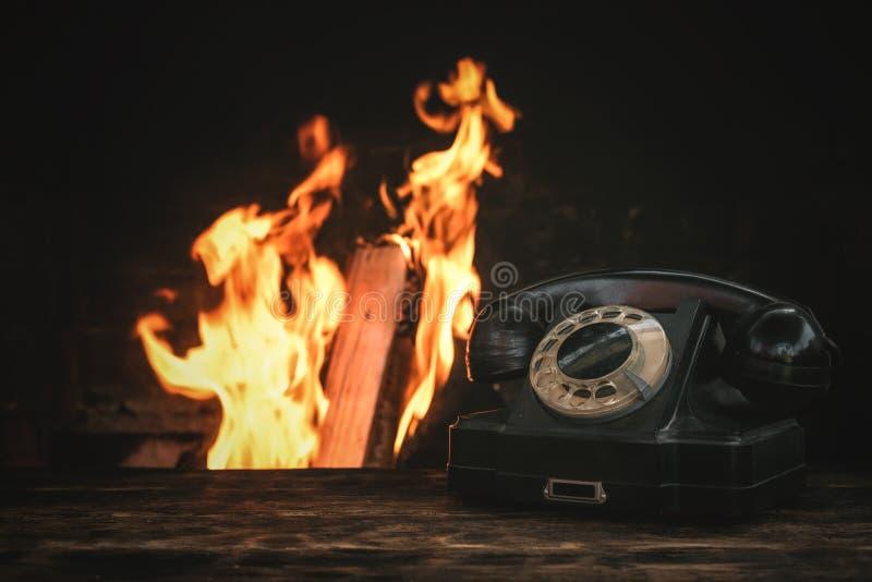 Roterande telefon arkivfoto