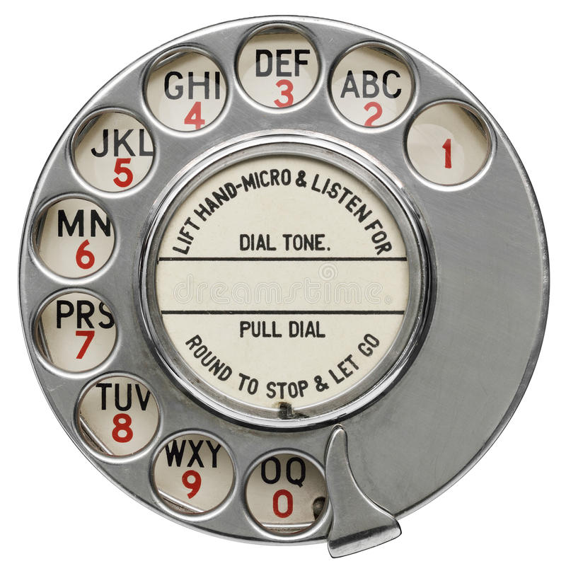 Roterande telefonvisartavla för tappning royaltyfri bild