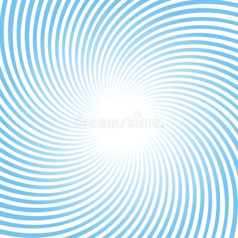 Roterende blauwe stralen stock illustratie