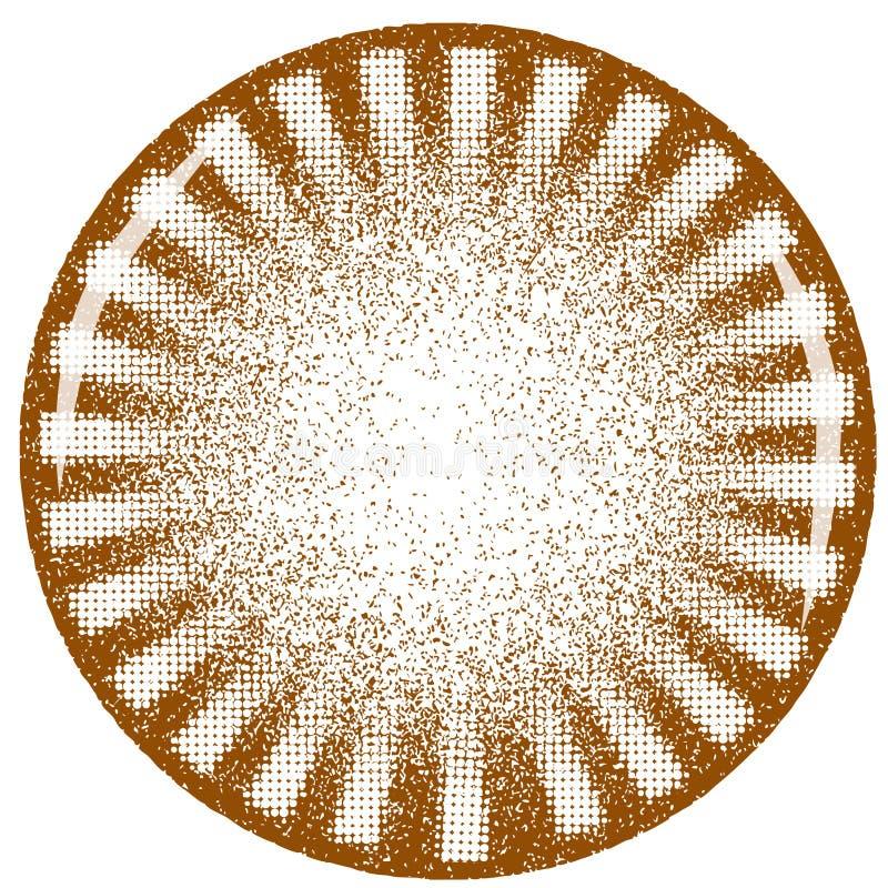 Roterende grunge vector illustratie