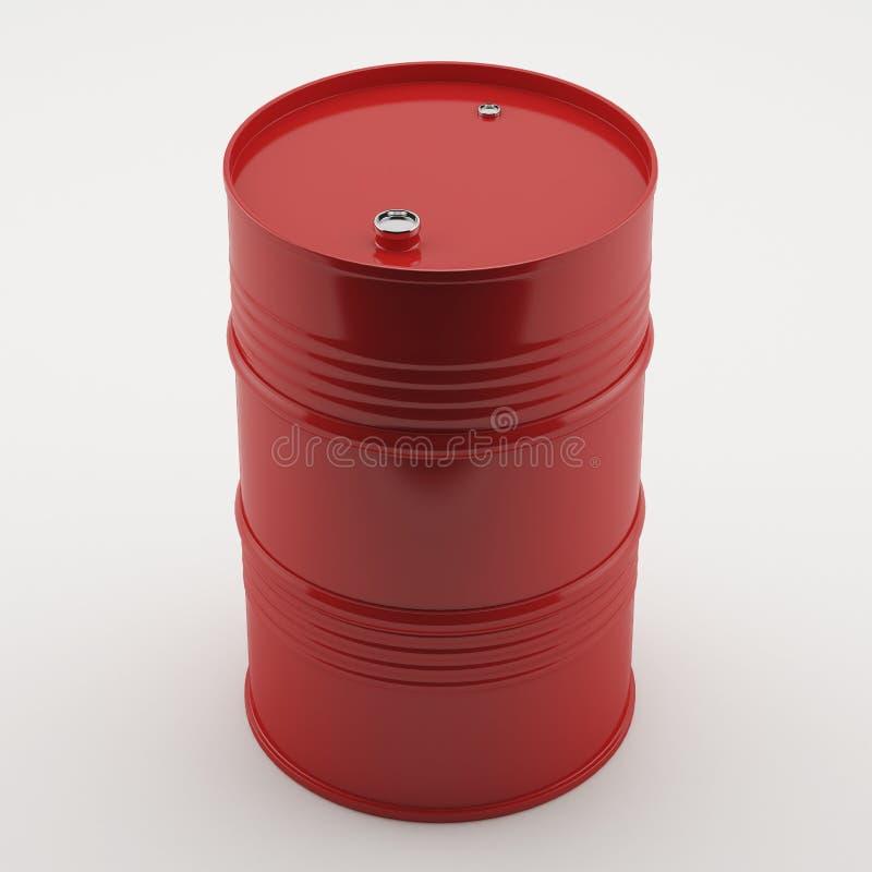 Rotes Ölbarrel stockfotos