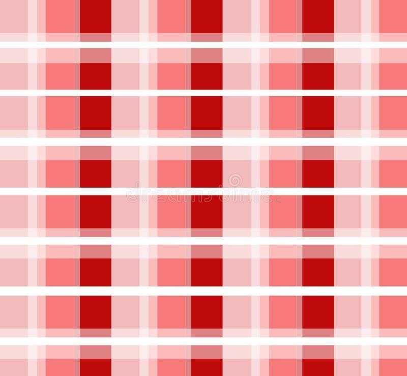 Rotes überprüftes Muster vektor abbildung