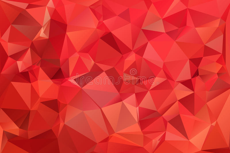 Rotes abstraktes Hintergrundpolygon. stock abbildung