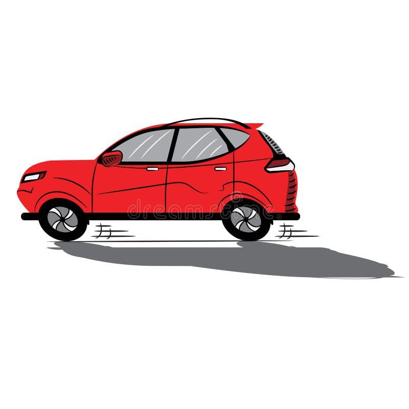 Rotes Auto flach ikone skizze Symbol zeichen Auf lagervektorabbildung vektor abbildung