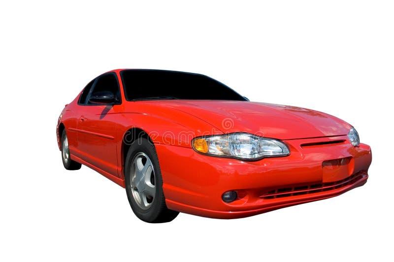 Rotes Auto getrennt stockfoto