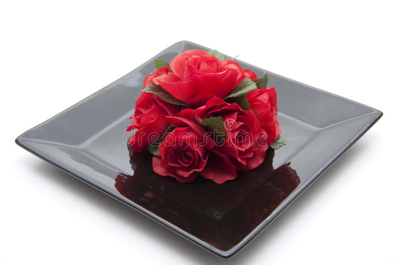 Rotes Bündel Rosen stockfoto