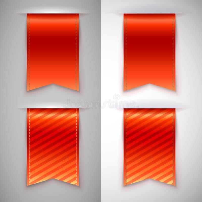 Rotes Band, Bookmark für Bücher vektor abbildung