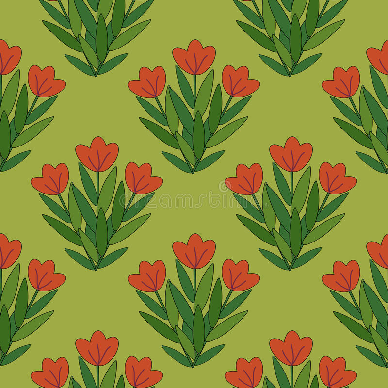 Rotes Blumenmuster Lizenzfreies Stockfoto