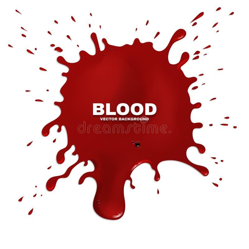 Rotes Blut plätschert Vektorschmutzhintergrund vektor abbildung