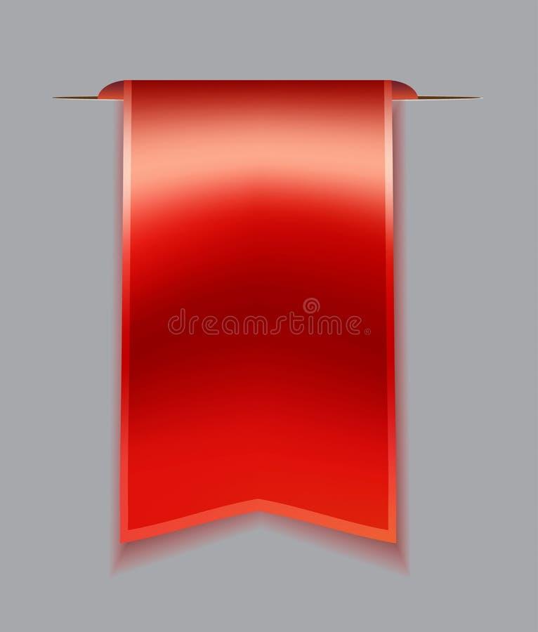 Rotes Bookmarkband lizenzfreie abbildung