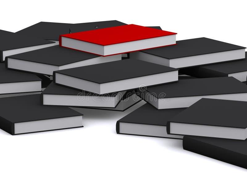 Rotes Buch ist auf die Oberseite stock abbildung