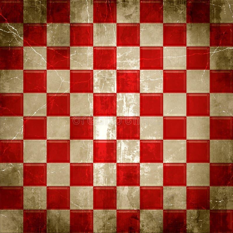 Rotes Checkered Grunge stock abbildung