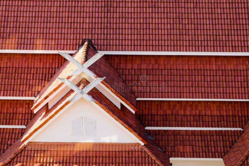 rotes cray Dach der Weinlese und Beschaffenheiten und Muster stockbilder