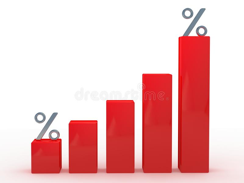 Rotes Diagramm stock abbildung