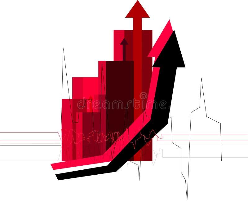 Rotes Diagramm lizenzfreie abbildung