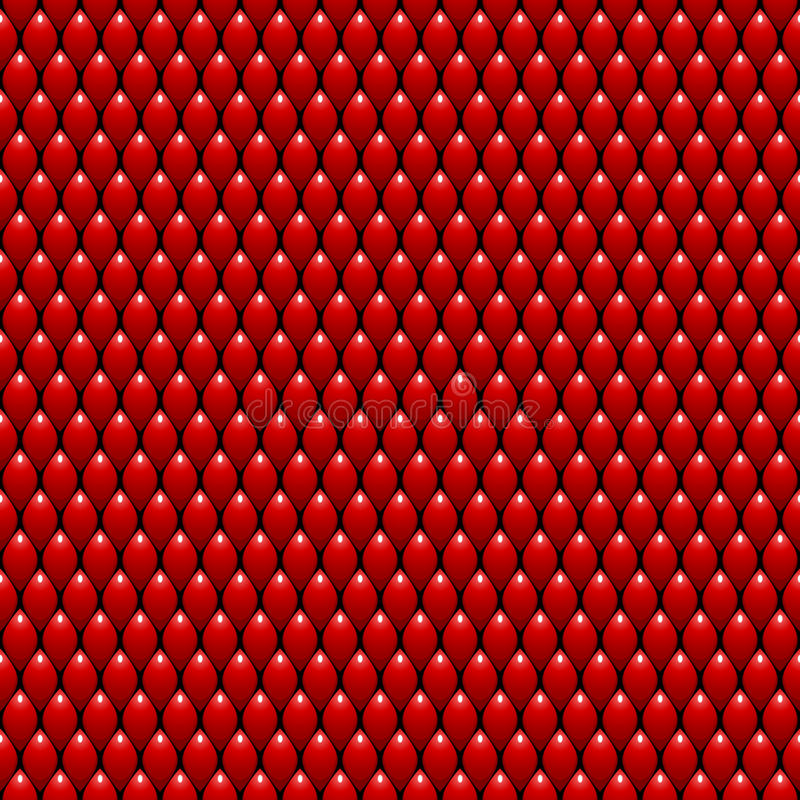 Rotes Dragon Scales Seamless Pattern Texture ablage stock abbildung