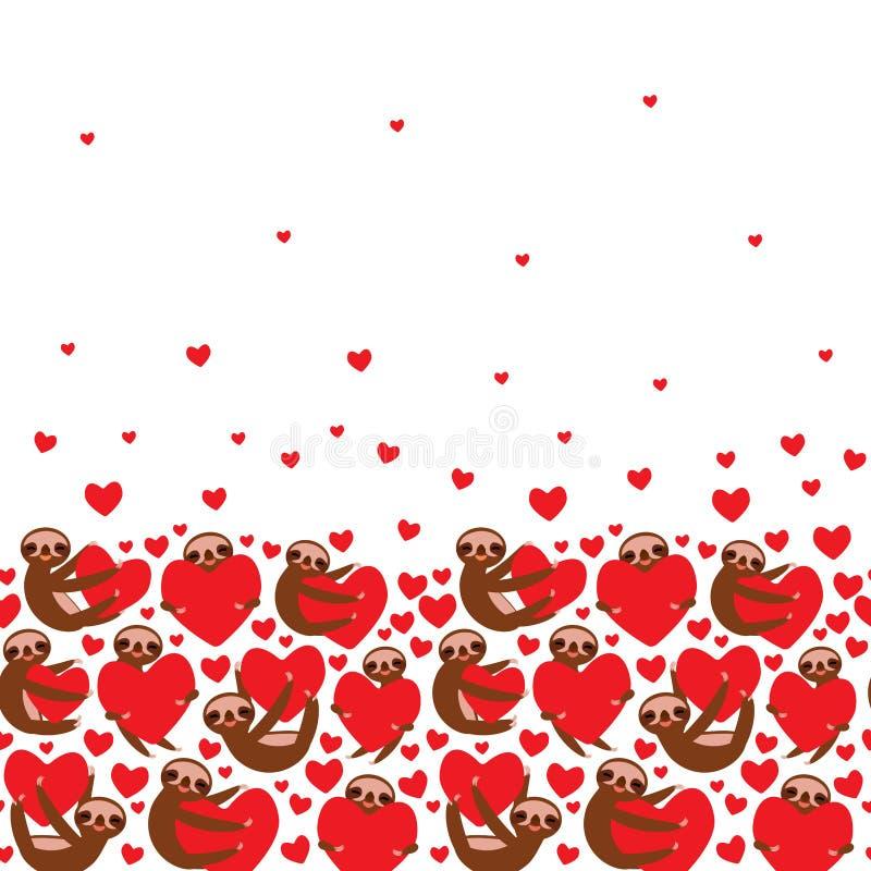 rotes, dreiteizenhaltiges, auf weißem Hintergrund isoliertes rotes Herz Valentinstag-Kartenbanner Funny Kawaii tier, Kopie vektor abbildung
