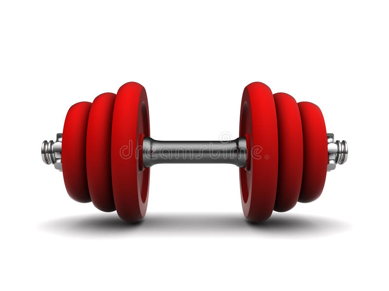 Rotes dumbell stock abbildung