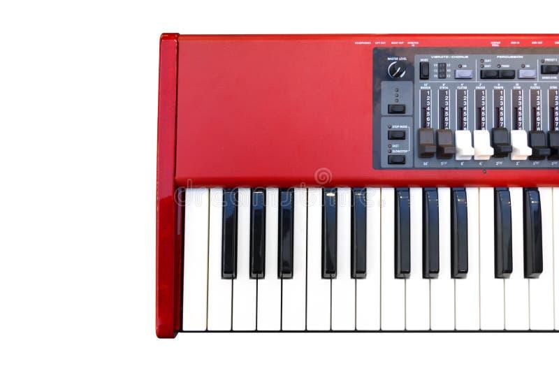 Rotes E-Piano stockbilder