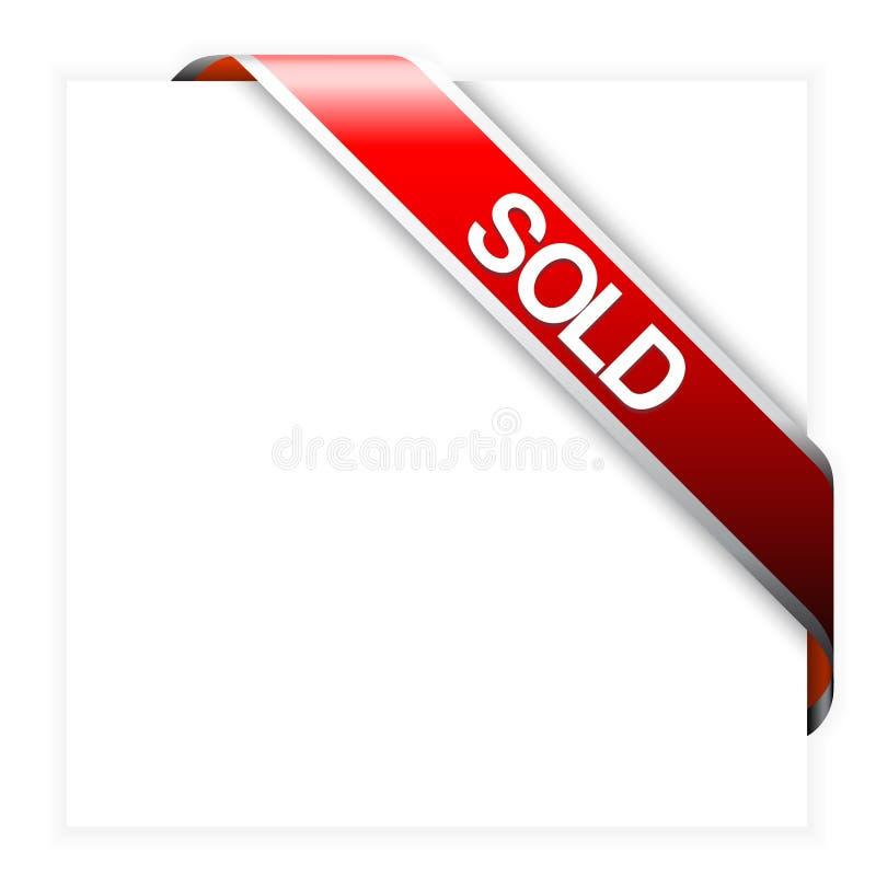 Rotes Eckfarbband für Verkaufsfelder lizenzfreie abbildung