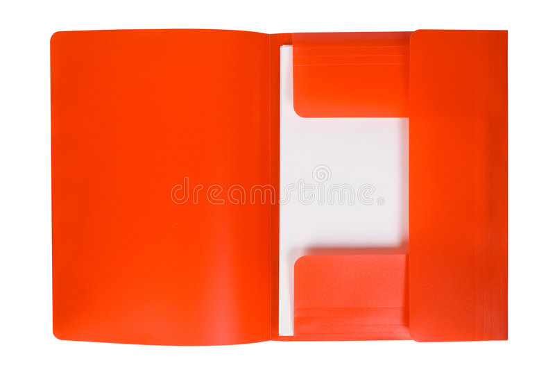Rotes Faltblatt mit Papier lizenzfreies stockfoto