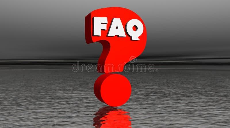 Rotes FAQ bis zum Nacht lizenzfreie abbildung
