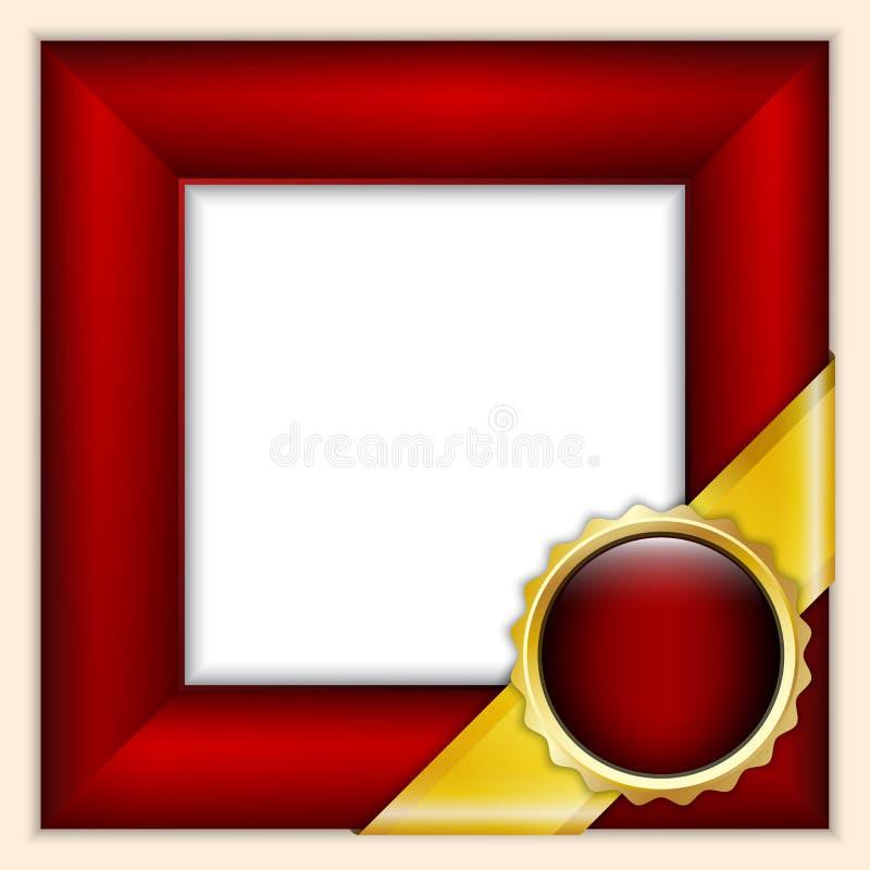 Rotes Feld mit Farbband lizenzfreie abbildung