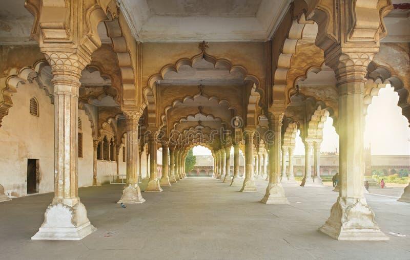 Rotes Fort gelegen in Agra, Indien stockbilder