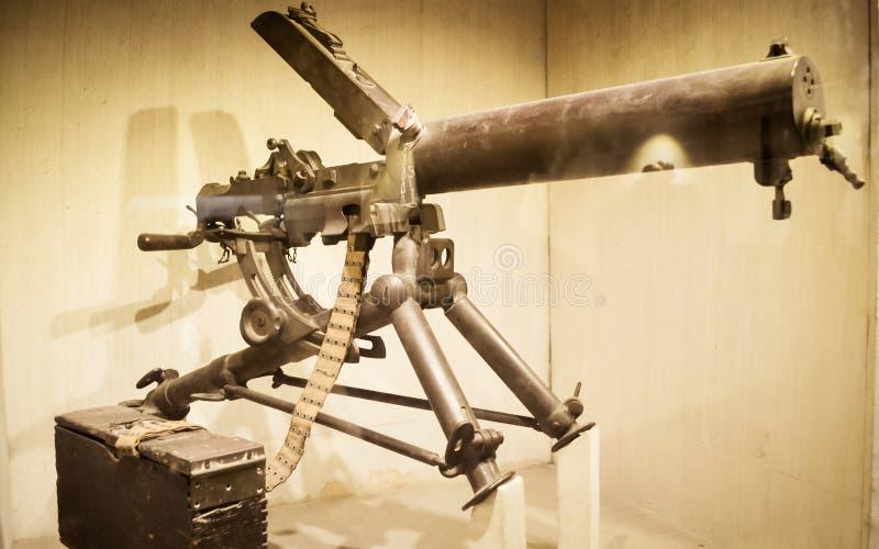 Rotes Fort-Museum von Armen und von Waffen, Neu-Delhi, am 21. Juli 2018: Arme und Waffen stellten hier in den Galerien mit.einsch lizenzfreie stockfotografie