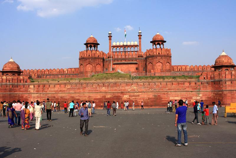 Rotes Fort Neu-Delhi Indien stockfotos