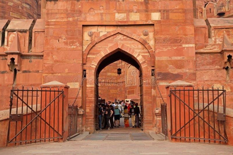 Rotes Fort von Agra - Indien stockfoto