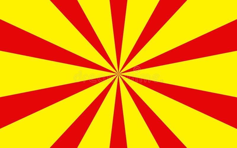 Rotes Gelb strahlt Hintergrund aus lizenzfreies stockfoto