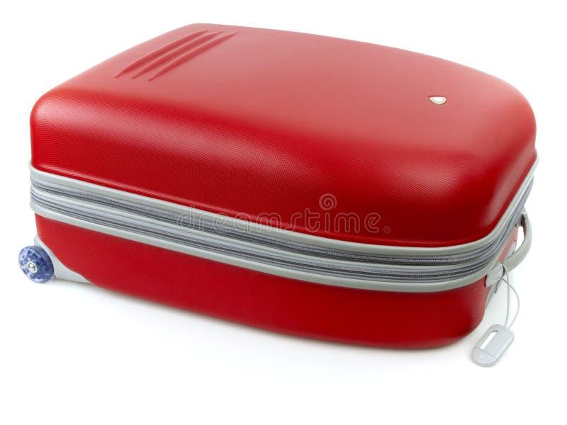 Rotes Gepäck stockfotografie