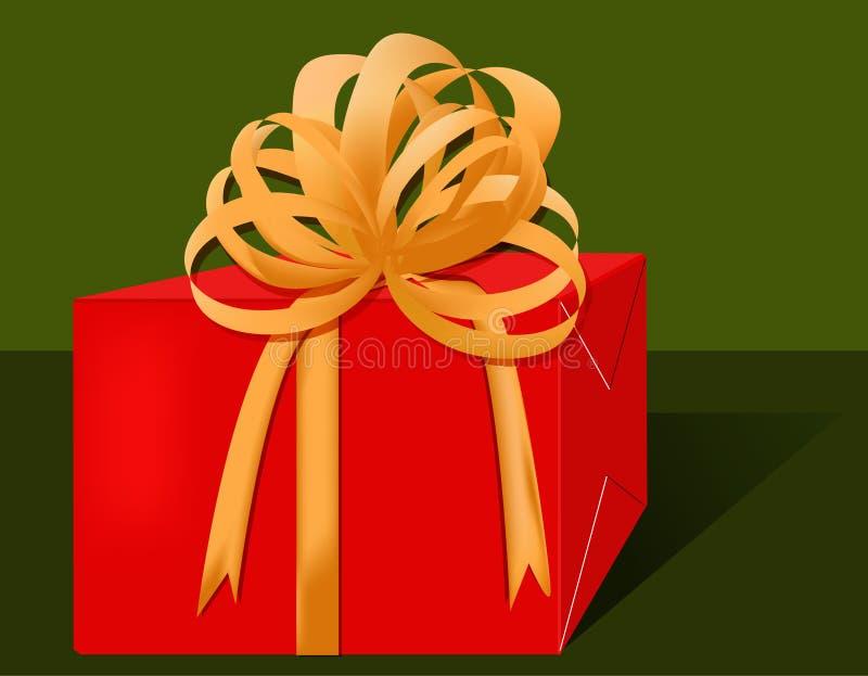 Download Rotes Geschenk stock abbildung. Illustration von kasten - 42595