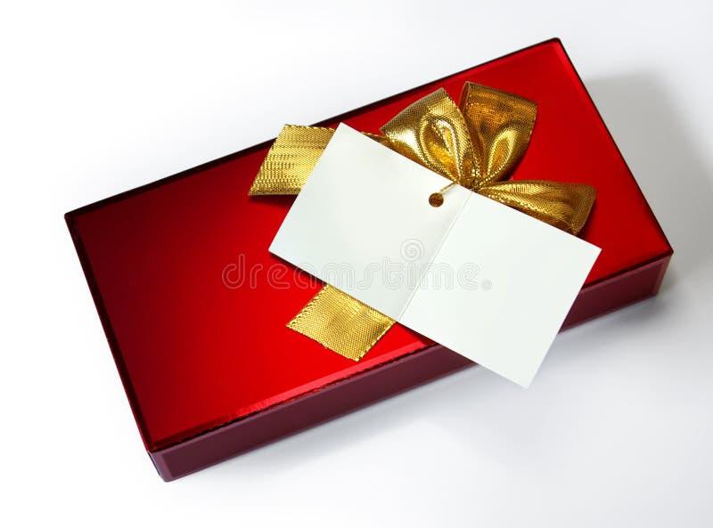 Rotes Geschenk lizenzfreies stockbild