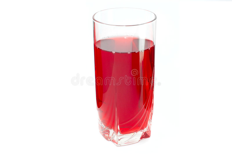 Rotes geschmackvolles Getränk lizenzfreie stockbilder