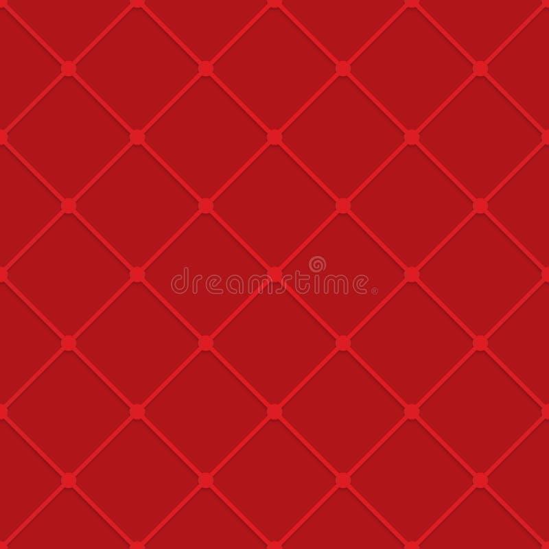 Rotes Gitter mit Kopfnicken lizenzfreie abbildung