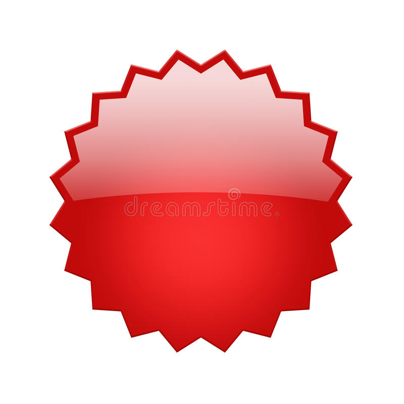 Rotes glattes Abzeichen stock abbildung