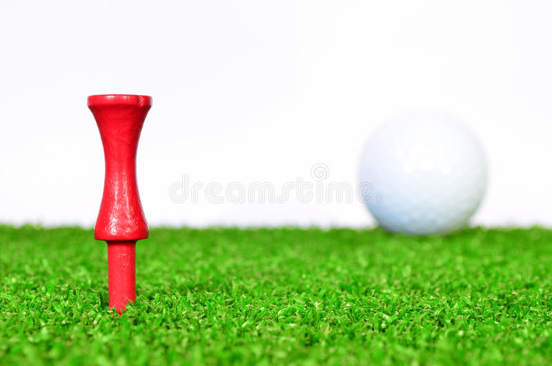 Rotes Golft-stück stockbilder