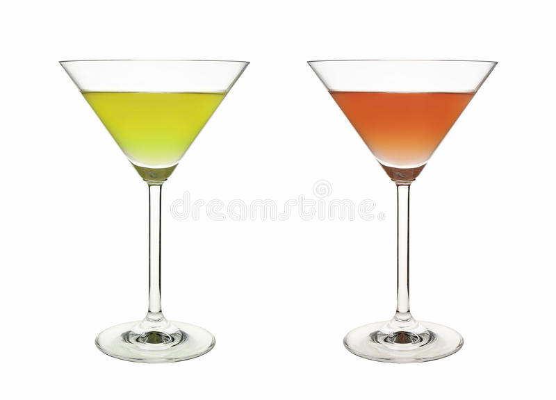 Rotes grünes Getränk der Schale lizenzfreies stockfoto