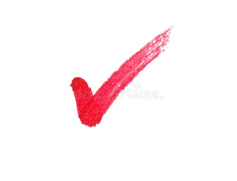 Rotes Häckchenzeichen lizenzfreie stockfotos