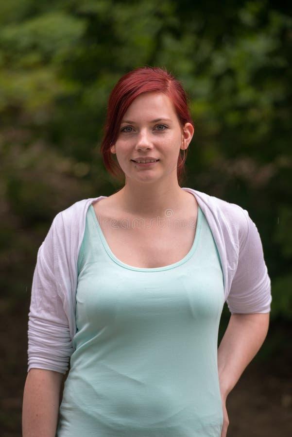 Rotes Haar lizenzfreies stockfoto