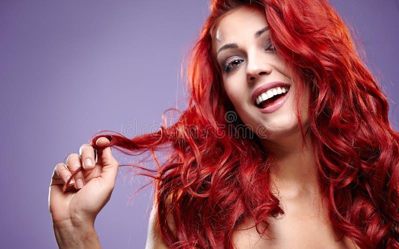 Rotes Haar Mode womanl Porträt lizenzfreies stockbild
