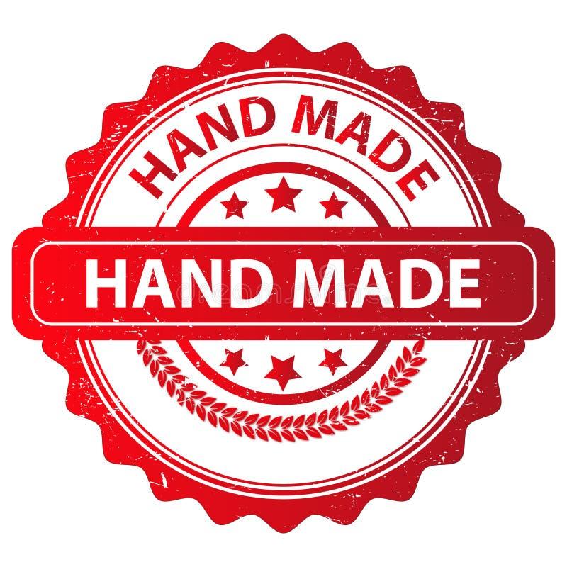 Rotes handgemachtes Stempel-Design stock abbildung