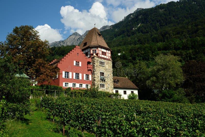 Rotes Haus, Вадуц, Лихтенштейн стоковая фотография